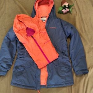Girls L14-16 2pc Columbia winter coat